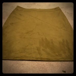 Dresses & Skirts - Vegan washable suede dark mustard skirt